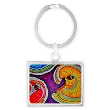 Circles on the Ground Landscape Keychain