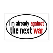 againstwaroval Rectangle Car Magnet