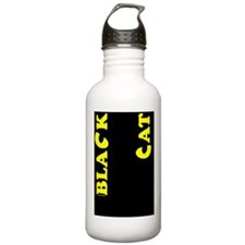 RT-BlackCat20x20Yellow Water Bottle