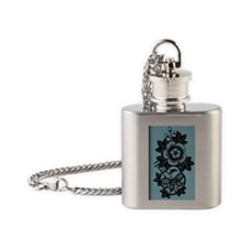 Trapped Butterfly (Turquoise) Flask Necklace