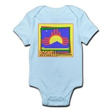 Roswell NM Flag Art Infant Creeper