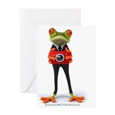Frog with Camera Greeting Card