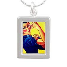 Rosie Silver Portrait Necklace