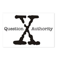 QUESTION AUTHORITY - X Postcards (Package of 8)