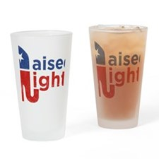 Raised Right Drinking Glass