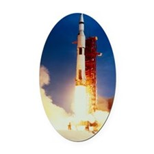 Launch of Apollo 11 Oval Car Magnet