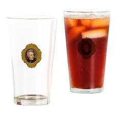 Andrew Jackson White Drinking Glass