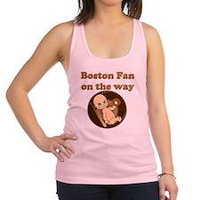 Boston Fan on the way Racerback Tank Top