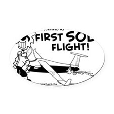 First Solo Flight (Glider) Oval Car Magnet