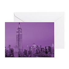 Purple NYC Skyline Greeting Card