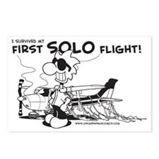 First Solo Flight (Plane) Postcards (Package of 8)