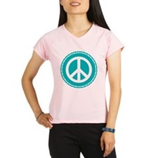 Classic Teal Peace Sign Performance Dry T-Shirt