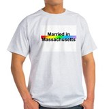Married in Massachusetts Ash Grey T-Shirt