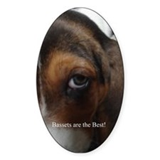 Basset Hound Oval Decal