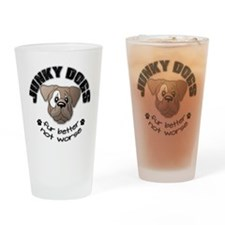 Junky Dogs Drinking Glass