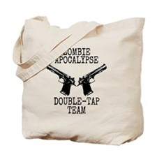 Zombie Apocalypse Double Tap Team Tote Bag