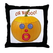 Oh No! Mr.Pumpkin! Throw Pillow