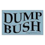 Wavy Dump Bush bumper sticker
