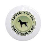 Ridgeback Property Ornament (Round)