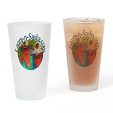 Laura-n-Sasha Logo Drinking Glass