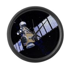 Military satellite Large Wall Clock