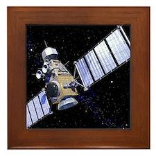 Military satellite Framed Tile