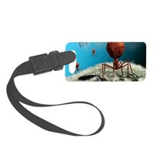 Bacteriophage viruses Luggage Tag