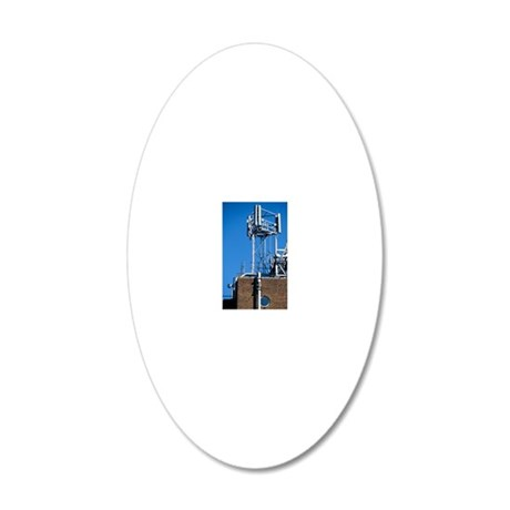 Mobile phone base station 20x12 Oval Wall Decal