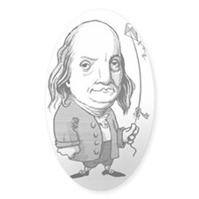 Benjamin Franklin, caricature Decal