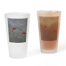 Body oultine Drinking Glass
