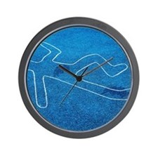 Body outline Wall Clock