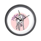 Hailey Unicorn Wall Clock