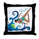 Synchronized swimming Throw Pillow