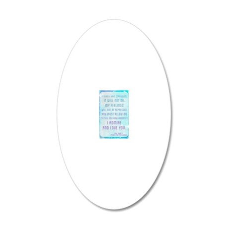 Darcy Quote 20x12 Oval Wall Decal