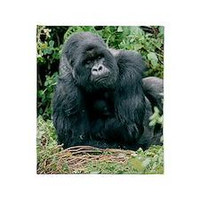 Mountain gorilla Throw Blanket