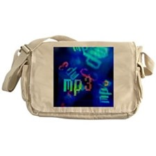 MP3, abstract artwork Messenger Bag