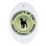 Terrier Property Oval Ornament