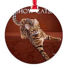 Show Cat Calendar Ornament