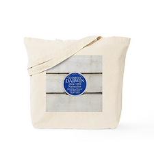 Charles Darwin commemorative plaque Tote Bag
