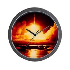 Night launch of Apollo 17 Wall Clock