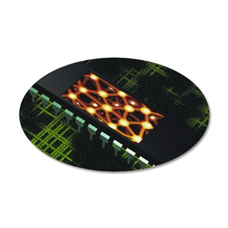 Neural chip 35x21 Oval Wall Decal