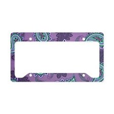 LARGE PURPLE PAISLEY License Plate Holder