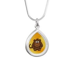 Baby Monkey waiting for mom love Necklaces