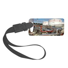 Oil pipelines and storage tanks Luggage Tag
