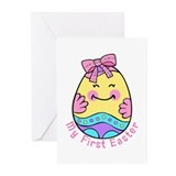 My First Easter Egg Girl Greeting Cards (Pk of 10)