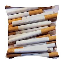 Cigarettes Woven Throw Pillow
