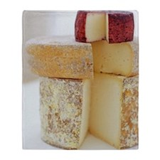 Cheese selection Throw Blanket