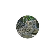 Snow Leopard Cub Mini Button