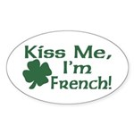 Kiss Me I'm French Oval Sticker