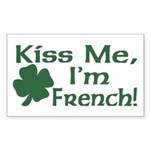 Kiss Me I'm French Rectangle Sticker